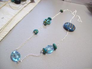 Sautoir grosses perles