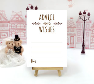 advice and wishes cards