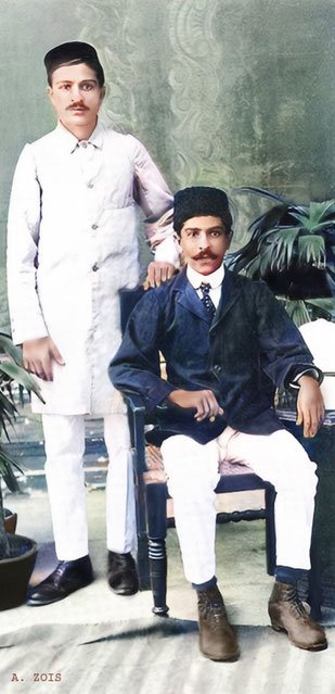 Merwan ( left ) with his older brother Jamshed in Poona in 1916
