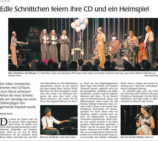 Wochenblatt, CD Taufe Kulturforum Laufen 2015
