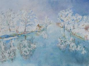 Nr.2085  Winter-Landschaft, Rauhreif
