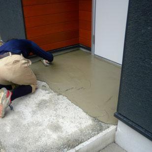 外構工事の中でのコンクリート打設