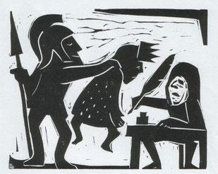 Linolschnitt von Gerd Kadzik