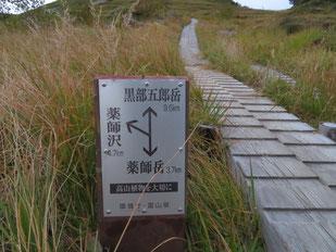 分岐を右に進み黒部五郎岳を目指す