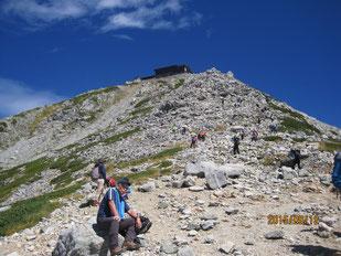雄山への登り  ※頂上は、雄山神社