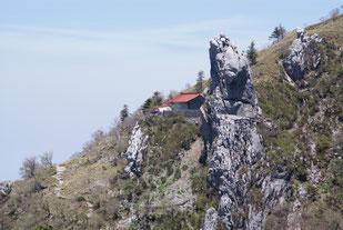 大剣神社と大剣岩  ※西島駅へのトラバースルートより