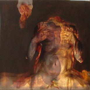 Acrilico e olio su tela cm 80 x 80 anno 2012