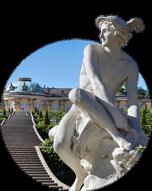 Merkur-Skulptur in Sanssouci