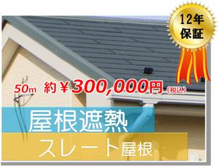 スレート屋根遮熱高耐久塗装