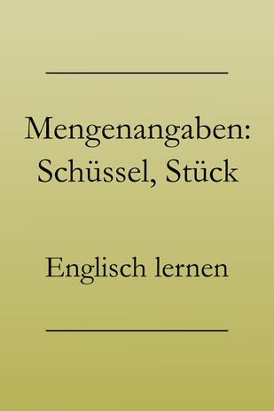 Einkaufen auf Englisch: Mengenangaben, englische Mengeneinheiten. #englischlernen