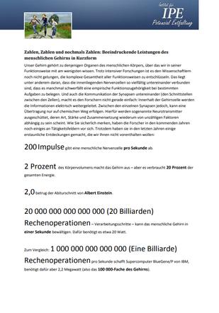 "Themenletter Mai 12  ""Zahlen, Zahlen und nochmal Zahlen"""
