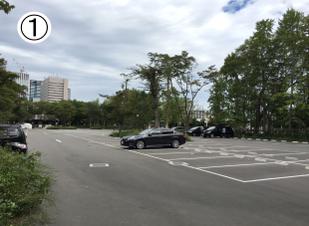 駐車場からBBQ広場へのアクセス方法①