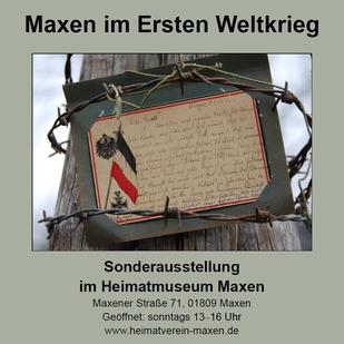 Plakat zur Sonderausstellung im Heimatmuseum Maxen