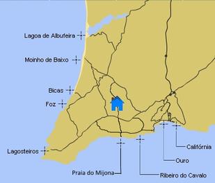 Karte der Strände