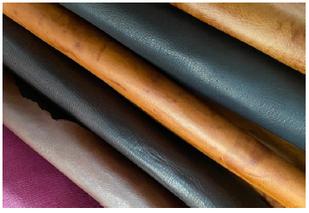 タンニン鞣しで美しく加工されたシカ革