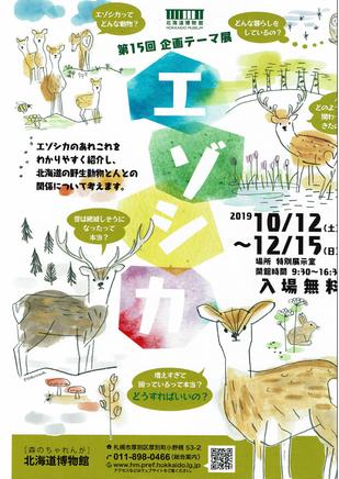 北海道博物館 第15回企画テーマ展 エゾシカ