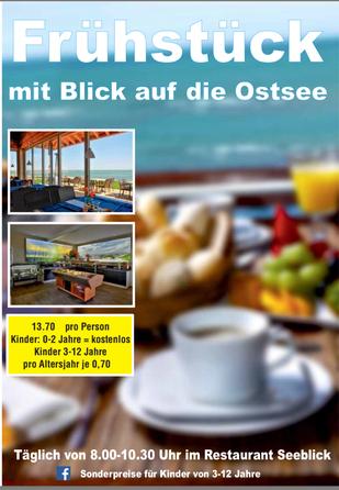 Frühstücken im Restaurant Seeblick auf dem Gelände des Campingplatzes Wulfener Hals (Foto: Wulfener-Hals)