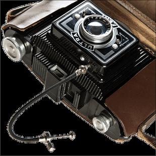 Ultrafex Bakelitkamera 6x9 cm, analoges Mittelformat, Foto: Dr. Klaus Schörner