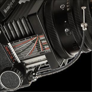 Mamiya RB67 Pro S mit Drahtauslöser, Mittelformatkamera 6x7 cm, Foto: Dr. Klaus Schörner