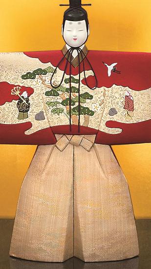 真多呂人形 本金 古代立雛(男雛)