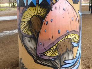 Graffiti-Pilze