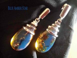 蓝珀原石和圆珠 - Blue Amber