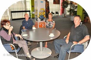 vlnr: Rit Wijnandts, Roger De Laet, Helena Claessen en Carlos De Somviele