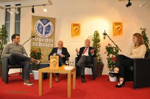 vlnr: Brent Vaerewijck, Yvan de Maesschalck, Mark Eyskens en Paulien Thyssen