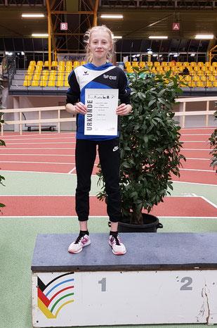 Heleen Keiten-Schmitz erzielte die schnellste 800-m-Zeit in ihrer Alterklasse W13.