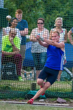 Nick Hövelbrinks siegte bei den Männern mit 49,28 Metern. (Foto: Jan-Hendrik Ridder)
