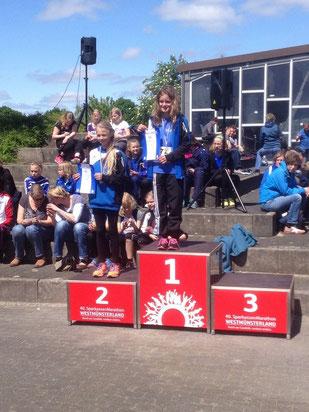 Ronja van der Heiden und Rieke Unland genossen die Ehrung für ihre hervorragenden Leistungen.