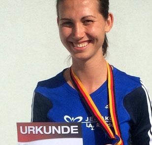 Klaudia Kaczmarek erfüllt sich einen Traum: Edelmetall bei Deutschen Meisterschaften.