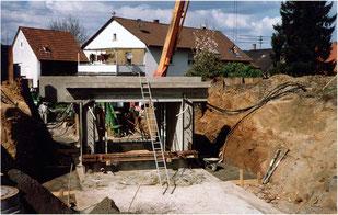 """""""Einpassung der Eisenbahnunterführung zum gemeinsamen Industriegebiet im Kreuzgarten vor 20 Jahren"""""""