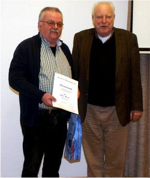Dieter Weisert wurde für 25 Jahre Mitgliedschaft geehrt