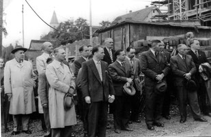 Richtfest Flehinger Schule 1957