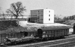 Verwaltungsbau der Maschinenfabrik Hermann Frank in den 1960 er Jahren