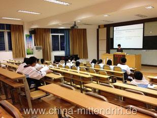 So sieht normaler Fremdsprachenunterricht in China aus. Frontal.
