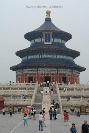 """Wenn Sie schon einmal in Peking waren, kennen Sie vermutlich dieses Gebäude, das ein Teil des """"Tempels des Himmels"""" ist."""