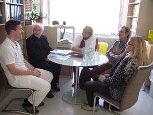 Besuch der Patientenorganisation LOT mit Lungenfibrose Forum Austria