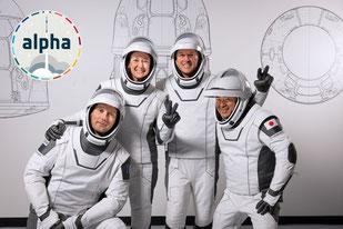 L'équipe d'astronautes qui s'envolera vers l'ISS le 22 avril 2021.
