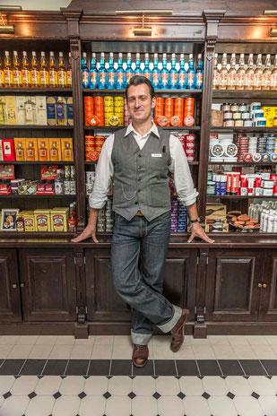 Stan Soldan in seinem Münchner Laden. Photo: PomadeShop.