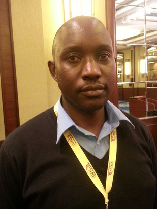 Albanous Nzomo of Kenyan WCM member Transonic Logistics is setting up a thrilling package for express shipments  /  source: hs