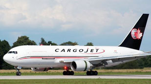 Cargojet's Boeing 767-200F, pictured here, will soon be replaced by a 767-300F on the Cologne route  /  company courtesy