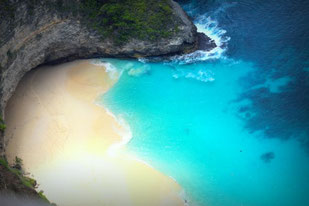 Der Kelingking Beach auf Nusa Penida