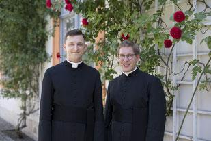 (von links) Michael Polster und Simon Heindl werden am Samstag, 24. Juni, in Eichstätt zu Diakonen geweiht. pde-Foto: Anika Taiber-Groh