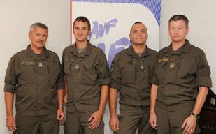Die AUF/AFH Personalvertreter der Türkkaserne (Faller, Peball, Trattnig, Grote)