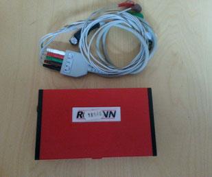 Rozinn electronics holter recorder 151 mit Kabel für Medizin und Praxis