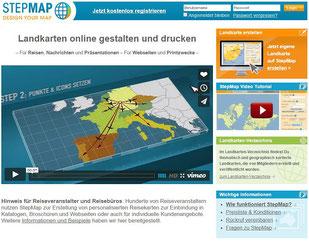 step map, landkarte erstellen