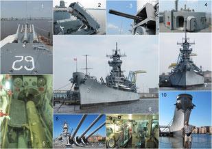 USS New Jersey und USS Wisconsin
