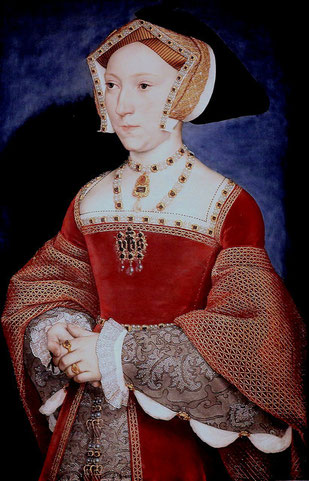 Jane Seymour in Tudor dress (flickr, CC BY-NC-SA 2.0, picture by jean louis mazieres)